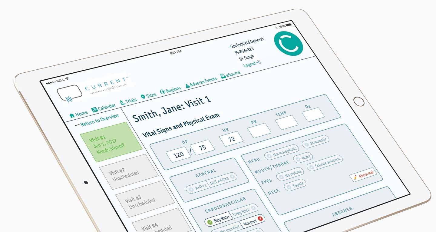 Clinical Trials iPad app