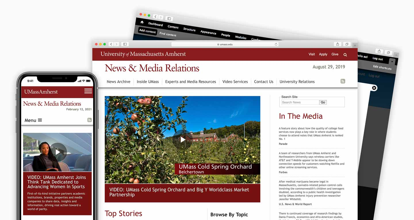 UMASS News Office website